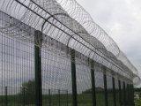 Recinzione rivestita della rete metallica del PVC