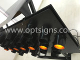 Indicatore luminoso d'avvertimento infiammante alimentato solare esterno della freccia del LED montato camion