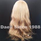 Parrucca piena del merletto dei capelli biondi delle donne con l'onda del corpo