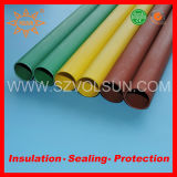 Tubo medio del aislante de la barra de distribución del encogimiento del calor del voltaje