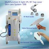4 в 1 (IPL+RF+Elight +лазер) для удаления волос омоложения кожи Tattoo снятие машины