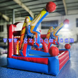 Custom Commercial Inflatable Bounce House com Basketball Hoop / Jumping Castle