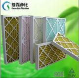 Filtro de aire pre plisado de papel del panel del marco con el acoplamiento de alambre