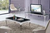 Alto tavolino da salotto di vetro di lucentezza del nero moderno del salone