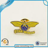 Distintivo su ordinazione poco costoso di Pin del risvolto del metallo di figura della stella