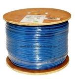 CAT6, 550 MHz, Blindé, 23AWG, cuivre pur solide 8c, 1000ft, Bleu, Bulk Ethernet LAN Câble
