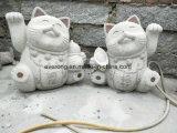 Китайский Специальный дизайн резные скульптуры животных резных изделий из гранита Fortune Cat скульптуры на продажу