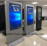 55 chiosco autonomo di WiFi 3G 4G di pollice della rete della visualizzazione esterna dell'affissione a cristalli liquidi che fa pubblicità alla macchina con la porta del USB