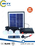 2016 nuevos kits solares caseros portables con el indicador de la capacidad de potencia