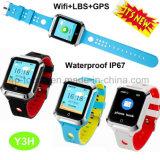 心拍数のモニタY3hが付いている防水大人の安全GPS追跡者の腕時計