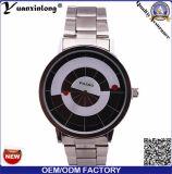 Reloj de lujo de Paidu de la placa giratoria Yxl-725 de la dial de la correa de cuero de Japón del cuarzo de los hombres negros clásicos especiales del movimiento