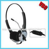 receptor de cabeza del teléfono de la comunicación del auricular del ordenador de la estereofonia de 2*3.5m m
