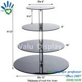 Acrylhochzeits-Kuchen-Standplätze/Acrylkuchen-Bildschirmanzeige
