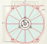 ventilatore universale del radiatore di 16inch 120With160With220W per l'escavatore del camion del bus dell'automobile