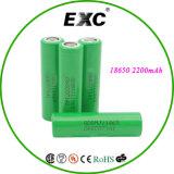 Batterie-Zelle der Li-Ionbatterie-2200mAh 3.7V 18650 für Batterie