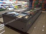 새로운 Styple 슈퍼마켓 전시 미닫이 문 섬 어는 진열장