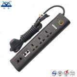 Retardante de llama Universal 5 formas de protección contra sobretensiones de salida de enchufe eléctrico