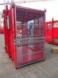 Double ascenseur de passager de construction de levage d'élévateur de la cage 2t réussi par ce