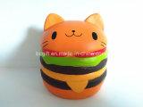 Big Hamburger Cat Squishies Subida Lenta Squishy PU perfumada brinquedos