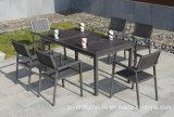 Мебель в саду 1+6 прямоугольные патио алюминий деревянный стол и стулья