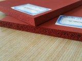 Folha colorida da borracha de esponja do silicone da fonte profissional da fábrica, folha da borracha de espuma do silicone