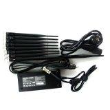 8 antenas CDMA GSM 3G 4G señal de teléfono celular Jammer UHF bloqueador Jammer VHF