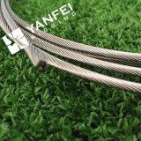 Câble métallique en acier enduit inoxidable à haute résistance 304/316 du câble 7*19/