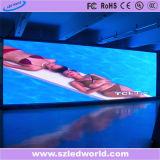 전시 화면 (P3.91, p4.81, p5.68, p6.25)를 위한 옥외 실내 임대료 LED 영상 벽