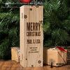Hongdao Caja de vino de Madera inacabadas, Caja de regalo_D