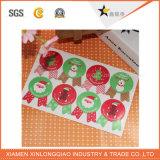 주문 크리스마스 종이 꼬리표에 의하여 인쇄되는 스티커를 인쇄하는 자동 접착 스티커 레이블