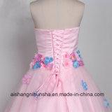 Vestido de casamento chique elegante do Stomacher do vestido Assoalho-Longo bonito do baile de finalistas
