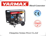 Abra o gerador diesel de baixo ruído de tipo executando o Arranque eléctrico