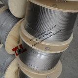 AISI 304 7X19 1.5mm 스테인리스 철사 밧줄