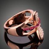 De hete Goedkopere Goud Ingelegde Parels van de Verkoop, de Ringen van de Vlinder