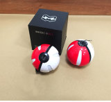 Pokemon Ball Power Bank 10000mAh carregador redondo do telefone móvel com luzes LED