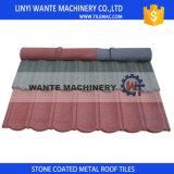 Tuile de toiture en acier en aluminium enduite de pierre colorée de promesse de qualité