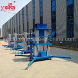 Doppelter Mast-Luftarbeit-Qualitäts-heißer Verkaufs-hydraulische Aluminiumaufzug-Tisch-Plattform mit Fabrik-Preis