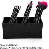Acrylique noire Palette Maquillage de l'organiseur de bureau