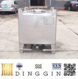 1000L cube de déchets en acier inoxydable