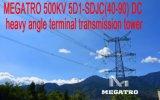 Megatro 500kv 5D1-Sdjc (40-90) DC Terminal Ângulo pesados torre de transmissão