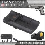 선그림 광학 가득 차있는 금속 Beretta를 위한 나사 그리고 격판덮개를 가진 전술상 활주 범위 마운트 기초 92의 권총 전자총 부속품