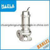 Wq antibourrage (ISO de la pompe d'eaux usées submersible approuvé WQ)