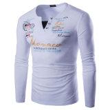 Teeshirt estampé par chemise mince occasionnelle élégante d'ajustement longue (A405)