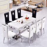 식당 현대 스테인리스 다리 대리석 최고 테이블