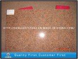 割引自然な磨かれたTianshanの赤い花こう岩の床タイル