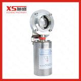 4inch 101.6mm 스테인리스 SS316L 위생 압축 공기를 넣은 액추에이터 용접 나비 벨브