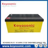 Pilha recarregável 12V 200Ah Bateria de gel VRLA para bateria de lítio de barco