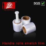 Matériau vierge 100 % la chemise de faible densité de la poignée de PEBDL rouleaux film étirable Film d'emballage
