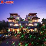 Rode Groene Bewegende Kerstmis Acht het Licht van de Laser van de Tuin van het Patroon