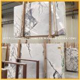 Milasの磨かれた白いLilac大理石はニューヨークの白の大理石をタイルを張る